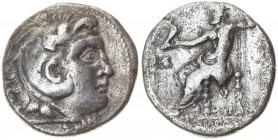 Greece Macedonia 1 Tetradrachm Alexander III The Great (336-323 BC). Arados. Averse: Head of Herakles / Alexander in lion scalp r. Reverse: Zeus enthr...