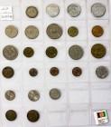 Afghanistan 1/2 Afghani - 5 Afghanis 1951- 1981 & FAO. Copper-Nickel. Bronze. Aluminum. Lot of 24 Coins