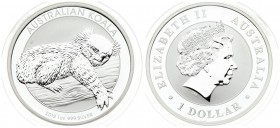 Australia 1 Dollar 2012 Australian Koala. Averse: 4th portrait of Queen Elizabeth II facing right wearing the Girls of Great Britain and Ireland Tiara...