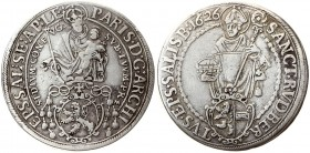 Austria Salzburg 1 Thaler 1626. Paris von Lodron(1619 - 1653). Averse: Madonna above shield of arms. Reverse: St. Rupert standing facing. Silver. KM 8...