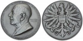 Austria Medal 1956 Otto Ender. Averse: Otto Ender's head to the left. Reverse: Eagle of Austria. Silver. Weight approx: 30.56 g. Diameter: 40 mm