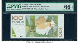 Aruba Centrale Bank 100 Florin 16.7.1993 Pick 14 PMG Gem Uncirculated 66 EPQ.   HID09801242017  © 2020 Heritage Auctions | All Rights Reserved