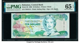 Bahamas Central Bank 10 Dollars 1996 Pick 59 PMG Gem Uncirculated 65 EPQ.   HID09801242017  © 2020 Heritage Auctions | All Rights Reserved