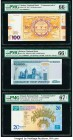 Belarus, Poland, Turkey, Ukraine and De La Rue Group of 5 Graded Examples PMG Superb Gem Unc 67 EPQ (2); Gem Uncirculated 66 EPQ (3).   HID09801242017...