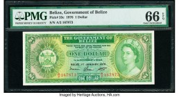 Belize Government of Belize 1 Dollar 1.1.1976 Pick 33c PMG Gem Uncirculated 66 EPQ.   HID09801242017  © 2020 Heritage Auctions | All Rights Reserved