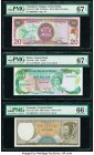 Belize, Colombia, Dominican Republic, Trinidad & Tobago, and Suriname Group of 5 Graded Examples PMG Superb Gem Unc 67 EPQ (3); Gem Uncirculated 66 EP...