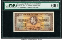 Bermuda Bermuda Government 5 Shillings 12.5.1937 Pick 8b PMG Gem Uncirculated 66 EPQ.   HID09801242017  © 2020 Heritage Auctions | All Rights Reserved...