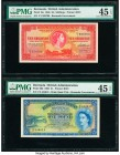 Bermuda Bermuda Government 10 Shillings; 1 Pound 1.10.1966 (2) Pick 19c; 20d Two Examples PMG Choice Extremely Fine 45 EPQ (2).   HID09801242017  © 20...
