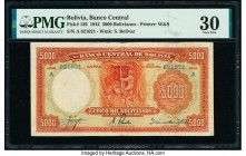 Bolivia Banco Central 5000 Bolivianos 16.3.1942 Pick 136 PMG Very Fine 30.   HID09801242017  © 2020 Heritage Auctions | All Rights Reserved