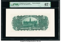 Canada Dominion of Canada $1 ND (1898-1911) DC-13/18 Back Proof PMG Superb Gem Unc 67 EPQ.   HID09801242017  © 2020 Heritage Auctions | All Rights Res...