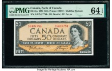 Canada Bank of Canada $50 1954 Pick 81a BC-42a PMG Choice Uncirculated 64 EPQ.   HID09801242017  © 2020 Heritage Auctions | All Rights Reserved