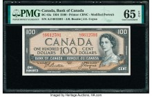 Canada Bank of Canada $100 1954 Pick 82a BC-43a PMG Gem Uncirculated 65 EPQ.   HID09801242017  © 2020 Heritage Auctions | All Rights Reserved