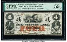 Canada Clifton, CW- Bank of Western Canada $4 20.9.1859 Ch.# 795-10-12 PMG About Uncirculated 55 EPQ.   HID09801242017  © 2020 Heritage Auctions | All...