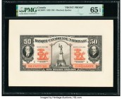 Canada Montreal, PQ- Banque Canadienne Nationale $50 1.2.1929 Ch.# 85-12-08P1; P2 Front and Back Proofs PMG Gem Uncirculated 65 EPQ; Superb Gem Unc 67...
