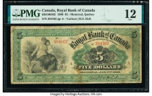 Canada Montreal, PQ- Royal Bank of Canada $5 2.1.1909 Ch.# 630-10-04-02 PMG Fine 12.   HID09801242017  © 2020 Heritage Auctions | All Rights Reserved