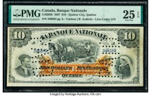 "Canada Quebec City, PQ- Banque Nationale $10 2.1.1897 Ch.# 510-20-06 PMG Very Fine 25 EPQ. Two ""Paid"" cancellation perforations are noted.  HID0980124..."