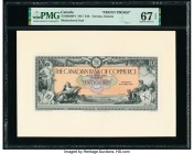 Canada Toronto, ON- Canadian Bank of Commerce $10 2.1.1917 Ch.# 75-16-02-06P1 Two Front Proofs PMG Superb Gem Unc 67 EPQ; Uncirculated 62.   HID098012...