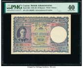 Ceylon Government of Ceylon 10 Rupees 24.6.1945 Pick 36A PMG Extremely Fine 40. Third party grading company mentions small holes.  HID09801242017  © 2...