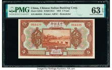 China Chinese Italian Banking Corporation 5 Yuan 1921 Pick S254r S/M#C36-2 Remainder PMG Choice Uncirculated 63 EPQ.   HID09801242017  © 2020 Heritage...