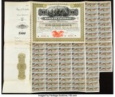 Colombia and Costa Rica Pair of Bond Specimen with Coupons Very Fine. Edge splits present on both examples.  HID09801242017  © 2020 Heritage Auctions ...