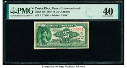 Costa Rica Banco Internacional de Costa Rica 25 Centimos 25.7.1919 Pick 156 PMG Extremely Fine 40. Previously mounted.  HID09801242017  © 2020 Heritag...