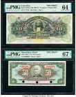 Costa Rica Banco Anglo-Costarricense 10 Colones 1903-17 Pick S123s3 Specimen PMG Choice Uncirculated 64; Haiti Banque Nationale de la Republique d'Hai...