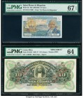 Costa Rica Banco Anglo-Costarricense 10 Colones 1903-17 Pick S123s3 Specimen PMG Choice Uncirculated 64; Saint Pierre and Miquelon Caisse Centrale de ...