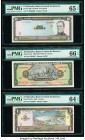 El Salvador Group Lot of 6 Graded Examples PMG Superb Gem Unc 67 EPQ; Gem Uncirculated 66 EPQ (3); Gem Uncirculated 65 EPQ; Choice Uncirculated 64 EPQ...