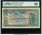 Ethiopia Bank of Ethiopia 100 Thalers 1.5.1932 Pick 10 PMG Very Fine 20. Pinholes.  HID09801242017  © 2020 Heritage Auctions | All Rights Reserved