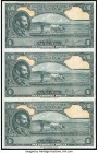 Ethiopia State Bank of Ethiopia 1 Dollar ND (1945) Pick 12r Remainder Uncut Sheet of 3 Notes About Uncirculated. Annotation.  HID09801242017  © 2020 H...