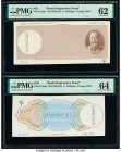 Fiji Government of Fiji 5 Shillings 1934 Pick 31a Front and Back Progressive Proof Set of 5 Examples PMG Uncirculated 62; Choice Uncirculated 63 (3); ...