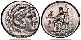 MACEDONIAN KINGDOM. Alexander III the Great (336-323 BC). AR tetradrachm (29mm, 11h). NGC Choice XF. Early posthumous issue of Corinth, ca. 310-290 BC...