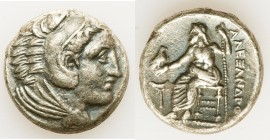 MACEDONIAN KINGDOM. Alexander III the Great (336-323 BC). AR tetradrachm (26mm, 16.62 gm, 2h). About XF, edge chip. Lifetime issue of 'Amphipolis', ca...