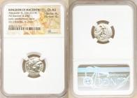 MACEDONIAN KINGDOM. Alexander III the Great (336-323 BC). AR drachm (17mm, 4.28 gm, 6h). NGC Choice AU 4/5 - 4/5. Posthumous issue of Lampsacus, ca. 3...