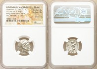 MACEDONIAN KINGDOM. Alexander III the Great (336-323 BC). AR drachm (18mm, 4.31 gm, 11h). NGC Choice AU 4/5 - 4/5, scratch. Posthumous issue of uncert...