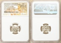 MACEDONIAN KINGDOM. Alexander III the Great (336-323 BC). AR drachm (mm, 4.39 gm, 12h). NGC AU 4/5 - 5/5. Posthumous issue of Lampsacus, ca. 310-301 B...