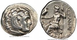 MACEDONIAN KINGDOM. Alexander III the Great (336-323 BC). AR drachm (19mm, 4h). NGC XF. Posthumous issue of Mylasa, ca. 310-300 BC. Head of Heracles r...