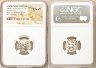 MACEDONIAN KINGDOM. Alexander III the Great (336-323 BC). AR drachm (17mm, 12h). NGC Choice VF. Late lifetime-early posthumous issue of 'Colophon', ca...