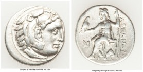 MACEDONIAN KINGDOM. Alexander III the Great (336-323 BC). AR drachm (18mm, 4.17 gm, 12h). VF. Posthumous issue of Abydus, ca. 310-301 BC. Head of Hera...