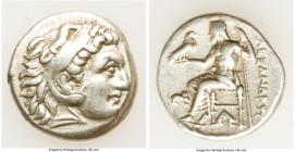 MACEDONIAN KINGDOM. Alexander III the Great (336-323 BC). AR drachm (17mm, 4.24 gm, 8h). VF. Posthumous issue of Lampsacus, ca. 310-301 BC. Head of He...