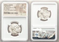 ATTICA. Athens. Ca. 440-404 BC. AR tetradrachm (24mm, 17.20 gm, 4h). NGC MS 5/5 - 4/5. Mid-mass coinage issue. Head of Athena right, wearing crested A...