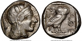 ATTICA. Athens. Ca. 440-404 BC. AR tetradrachm (24mm, 17.16 gm, 1h). NGC Choice VF 4/5 - 4/5. Mid-mass coinage issue. Head of Athena right, wearing cr...
