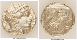 ATTICA. Athens. Ca. 440-404 BC. AR tetradrachm (26mm, 17.17 gm, 11h). Choice XF. Mid-mass coinage issue. Head of Athena right, wearing crested Attic h...