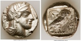 ATTICA. Athens. Ca. 440-404 BC. AR tetradrachm (25mm, 17.14 gm, 7h). XF. Mid-mass coinage issue. Head of Athena right, wearing crested Attic helmet or...
