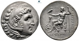 "Kings of Macedon. Kyme. Alexander III ""the Great"" 336-323 BC. ΔΙΟΓΕΝΗΣ (Diogenes), magistrate. Tetradrachm AR"