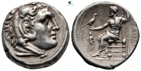 Kings of Macedon. Corinth. Demetrios I Poliorketes 306-283 BC. In the name and types of Alexander III. Tetradrachm AR