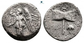 Thraco-Macedonian Tribes. Uncertain mint circa 400-300 BC. Obol (?) AR