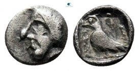 Asia Minor. Uncertain mint of Southern Asia Minor circa 500-300 BC. Tetartemorion AR