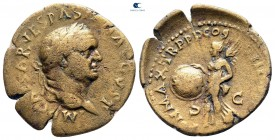 Vespasian AD 69-79. Uncertain mint, possibly Ephesos. Semis Æ