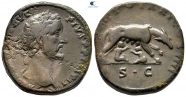 Antoninus Pius AD 138-161. This issue commemorates the impending 900th Anniversary of the founding of Rome.. Rome. Sestertius Æ